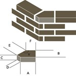 A13 Hoekstenen met stompe hoeken